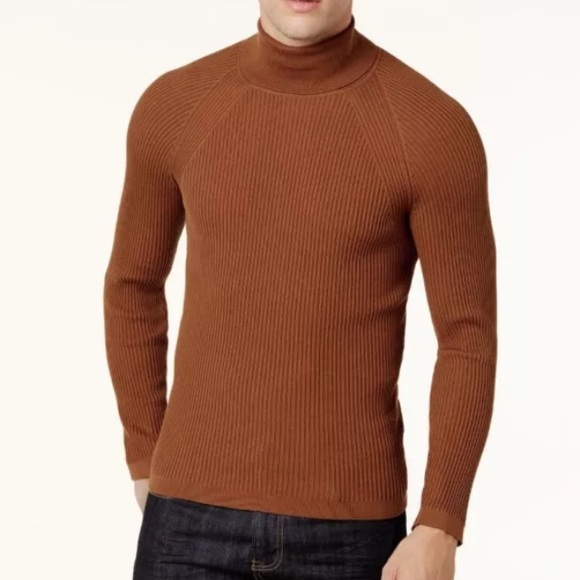 Inc International Concepts Sweaters Inc Mens Brown Ribbed